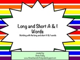 Short and Long A & I Word Study Sort and Activities