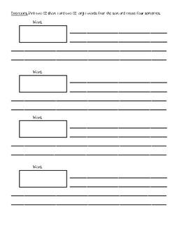 Short and Long A Pocket Chart Sort  #1 (Freebie)