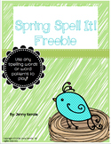 Spring Spell It Freebie