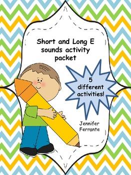Short and Long E Activity Packet