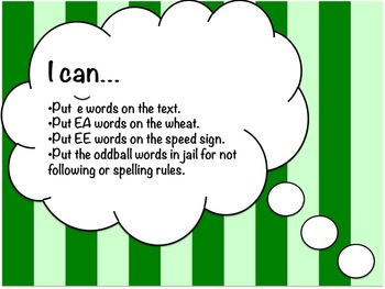 Short and Long E Word Study Sort and Activities (E, EE & EA)