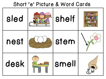Short and Long E Vowel Word Work Hands-On and Print And Go