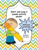 Short and Long I Activity packet