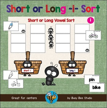 ESL GAMES: Short and Long I Word Sort (CVC and CVCE)