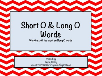 Short and Long O Word Study Sort and Activities
