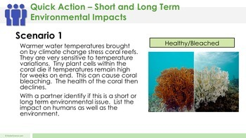 Short and Long Term Environmental Impacts to Organisms Complete 5E Lesson Plan