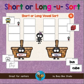 ESL GAMES: Short and Long U Word Sort (CVC and CVCE)
