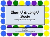 Short and Long U Word Study Sort and Activities