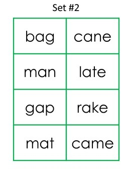 Short and Long Vowel A Word Sort
