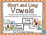 Short Vowels and Long Vowels {Activities, Pictures, and Pr