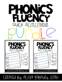 Phonics Fluency: Short and Long Vowel Quick Assessment Bundle