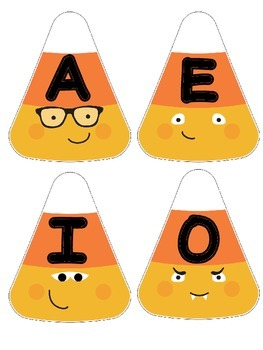 Short and Long Vowel Fall Candy Corn Sort!