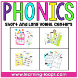 Short and Long Vowel Centers | CVC & CVCe Words | Word Work