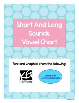 Short and Long Vowel Chart