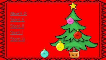 Short and Long Vowel Christmas Themed Center!