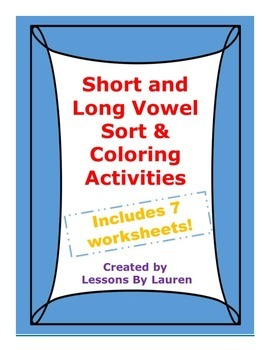 Short and Long Vowels coloring activities