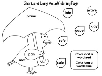 vowel coloring pages - photo#24