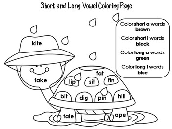 vowel coloring pages - photo#9