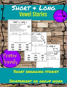 Short and Long Vowel Cut & Sort