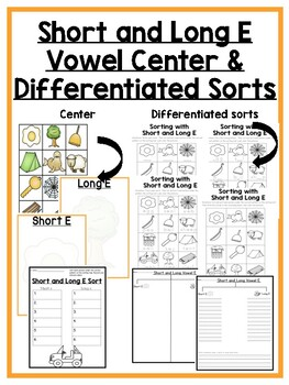 Short and Long Vowel Differentiated Sorts and Centers!