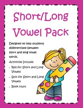 Short and Long Vowel Freebie