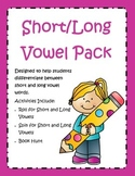Short and Long Vowel Freebie
