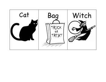 Short and Long Vowel Halloween Words