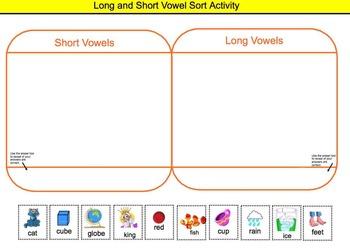 Short and Long Vowel INTERACTIVE Smartboard Practice Activities