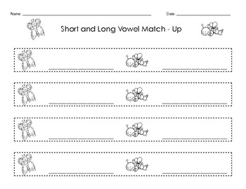 Short and Long Vowel Match Up - Common Core