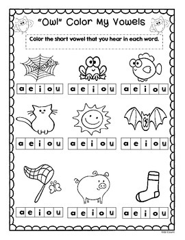 Short and Long Vowel Owl Games