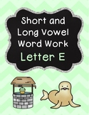 Short and Long Vowel Pack - Letter E