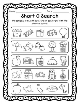 Short and Long Vowel Pack - Letter O
