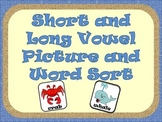 Short and Long Vowel Picture/Word Sort