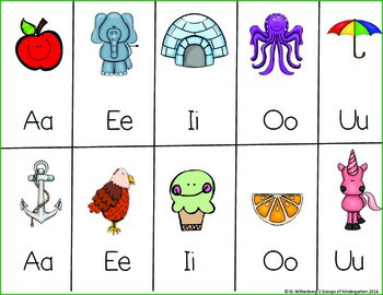Short and Long Vowel Posters Bright with Banners