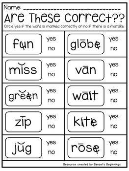 Short and Long Vowel Practice Pack!