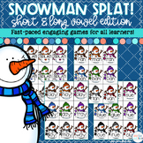 Short Vowels and Long Vowels Game - Snowman SPLAT!