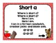 Short and Long Vowel Songs: Posters, Interactive Journals ,Pocket Chart Cards