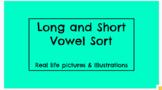 Short and Long Vowel Sort (A, E, I, O, U / Real pictures v