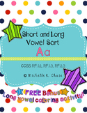 Short and Long Vowel Sort (Aa) {Common Core Aligned}