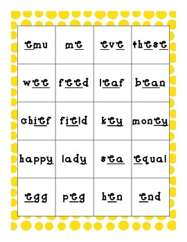 Short and Long Vowel Sort (IREAD)
