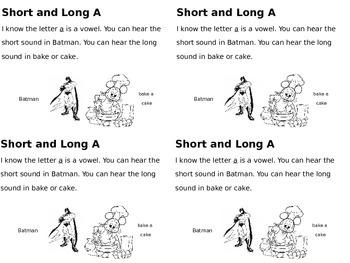 Short and Long Vowel Sort Journals K-1st