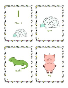 Short and Long Vowel Sorting Cards