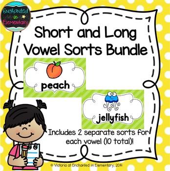 Short and Long Vowel Sorts Bundle