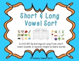Short and Long Vowel Sound Sort - A Differentiated Common
