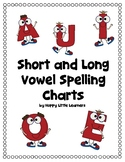 Short and Long Vowel Sound Spelling Phonics Charts