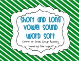 Short and Long Vowel Sound Word Sort