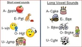 Short and Long Vowel Sounds- Classroom Posters
