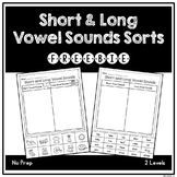 Short and Long Vowel Sounds Sorts - FREEBIE