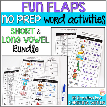 Short and Long Vowel Word Activities - NO PREP