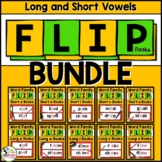 Short and Long Vowel Word Family Phonics Flip Books BIG BUNDLE